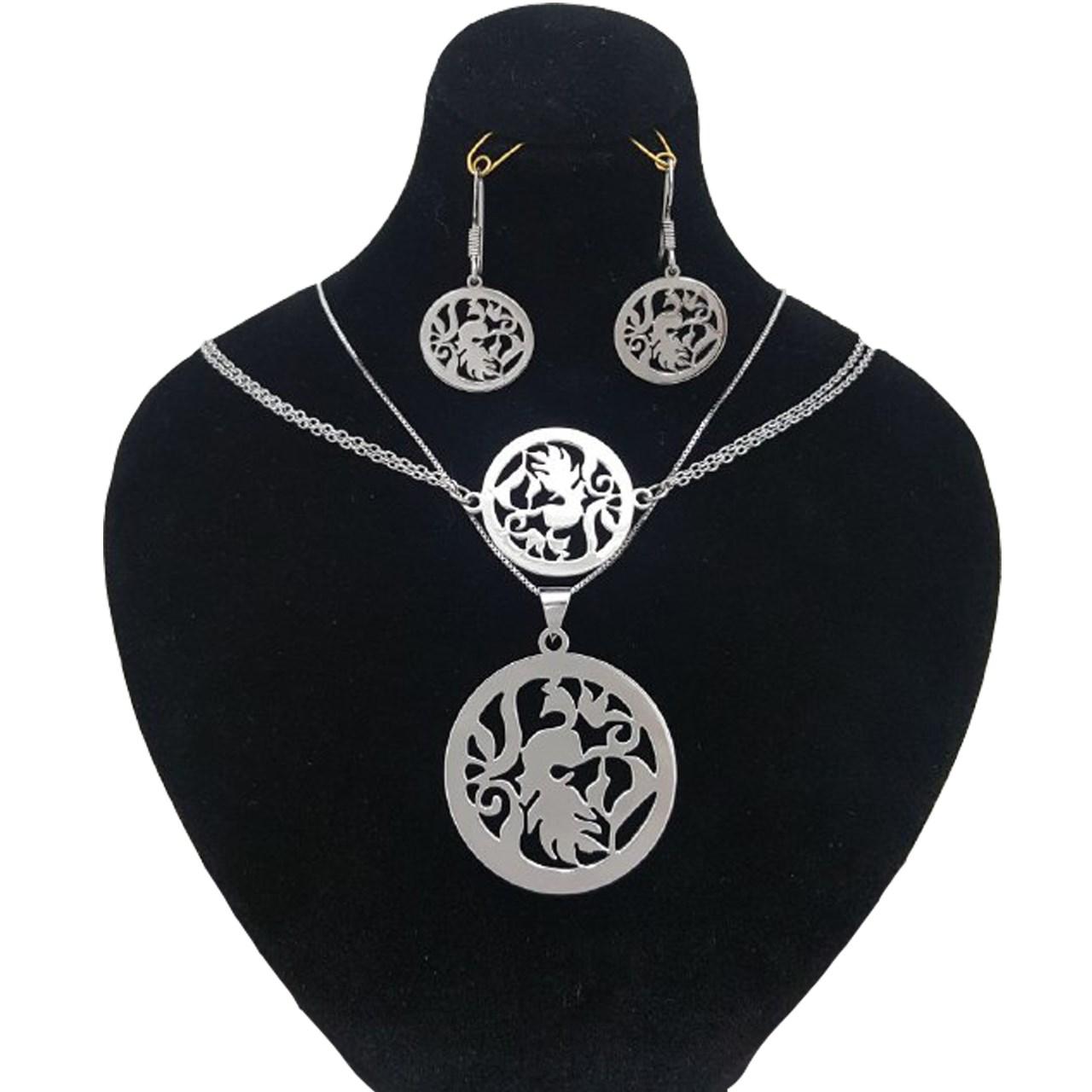 قیمت نیم ست نقره ایران شاپ طرح طاووس مدل Tav01