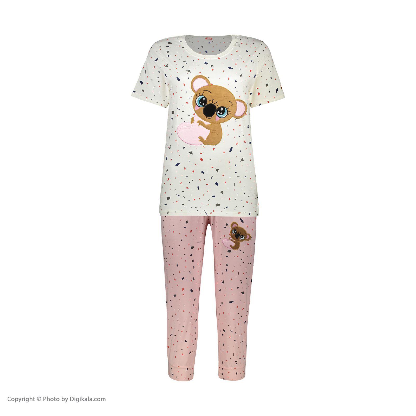 ست تی شرت و شلوارک راحتی زنانه مادر مدل 2041103-84 -  - 3