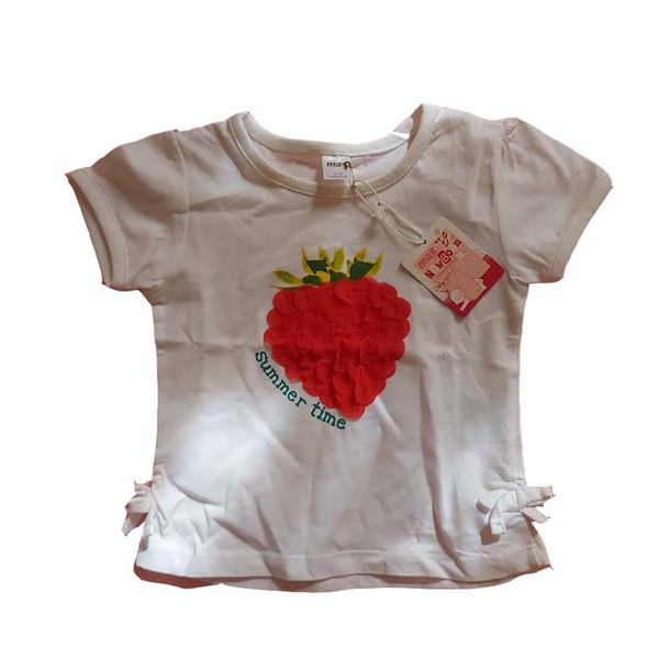 تی شرت آستین کوتاه دخترانه مکس مدل توت فرنگی