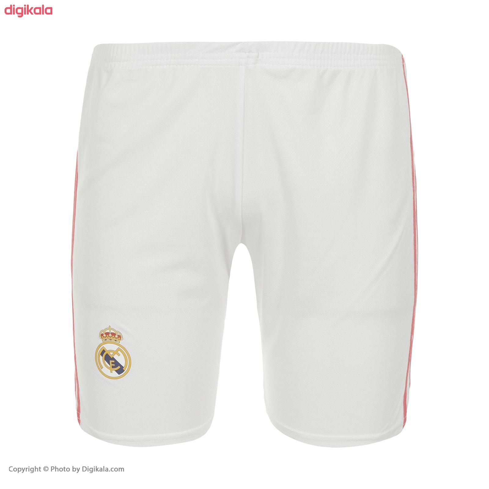 ست پیراهن و شورت ورزشی پسرانه طرح تیم رئال مادرید مدل 2021 main 1 3