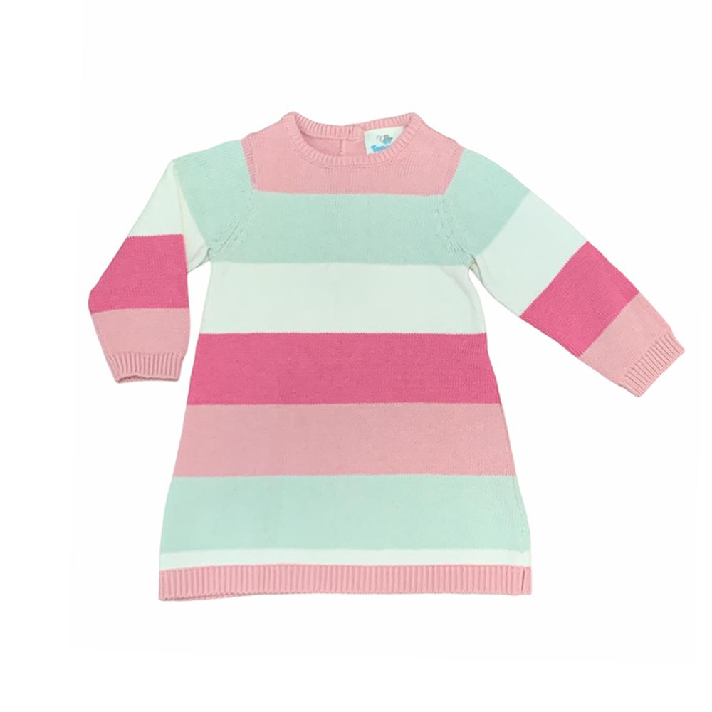 پیراهن بافت نوزادی توپومینی مدل P-STRP