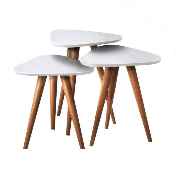 میز عسلی مدل 890 کد 17 مجموعه 3 عددی