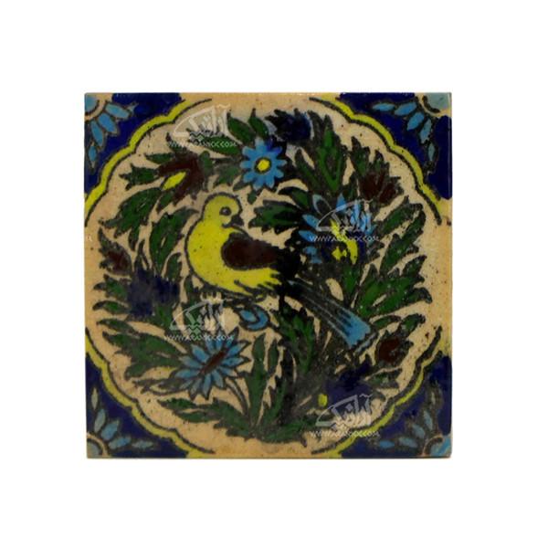 کاشی هفت رنگ  طرح گل و مرغ مدل 1118800003