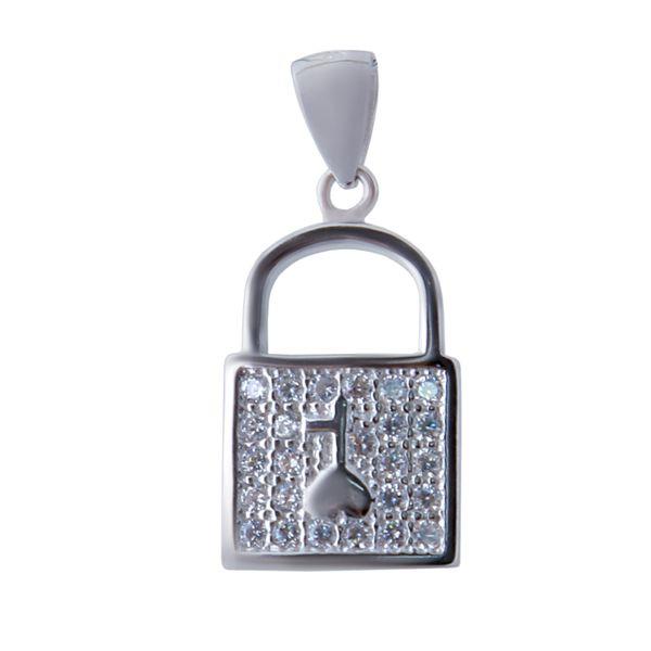 آویز گردنبند نقره زنانه بازرگانی میلادی کد PKR-113