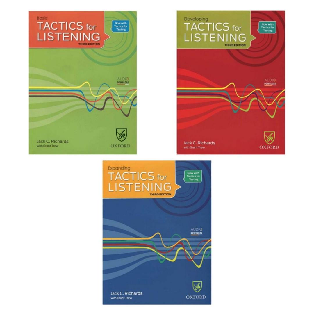 کتاب Tactics for Listening 3rd اثر Jack C. Richards انتشارات جنگل کاغذ گلاسه 3جلدی