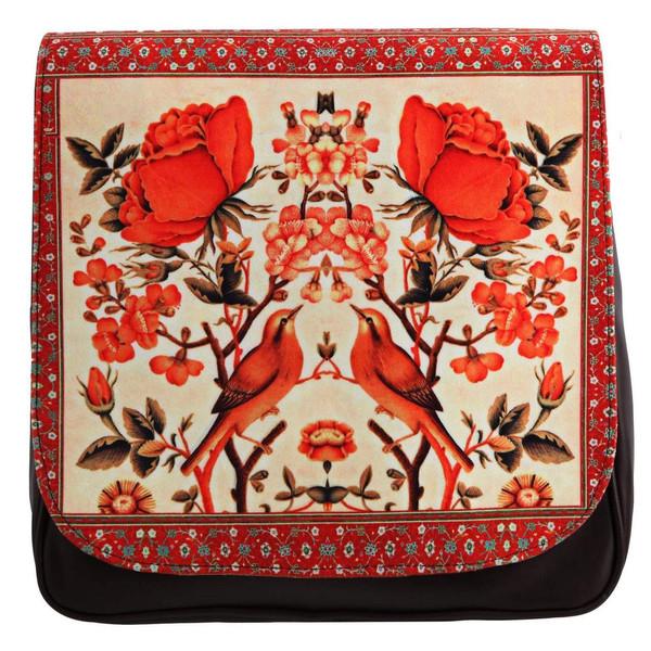 کیف دوشی زنانه گالری وستای مدل گل و مرغ کد 91024