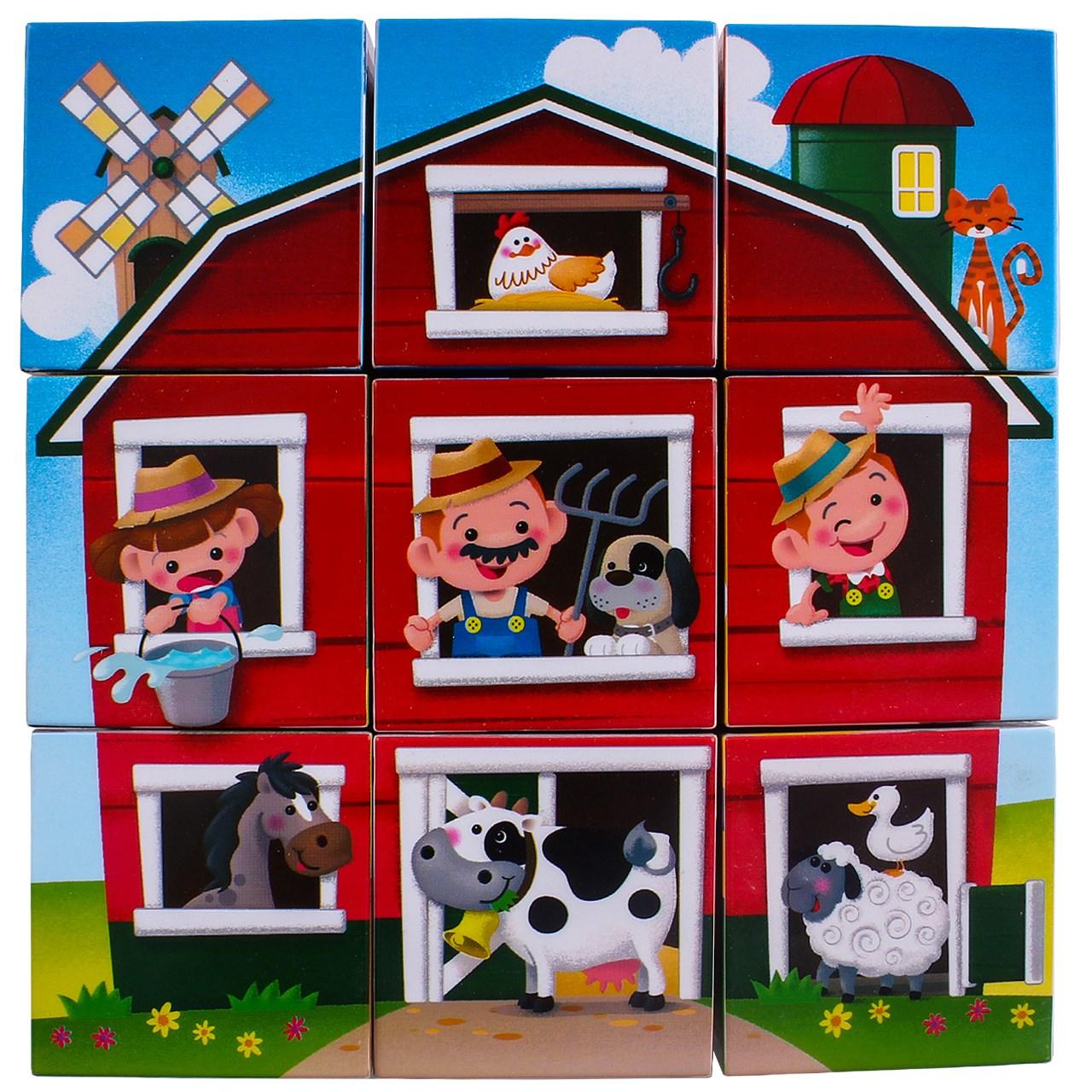 پازل 9 تکه پلی گو مدل Farmhouse Block Puzzle کد 9030