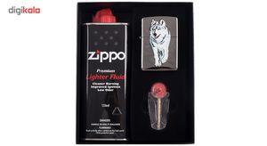 ست هدیه زیپو مدل Black Iced کد 769