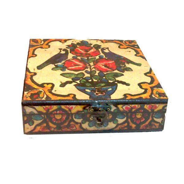 جعبه جواهرات وندا طرح گل و مرغ