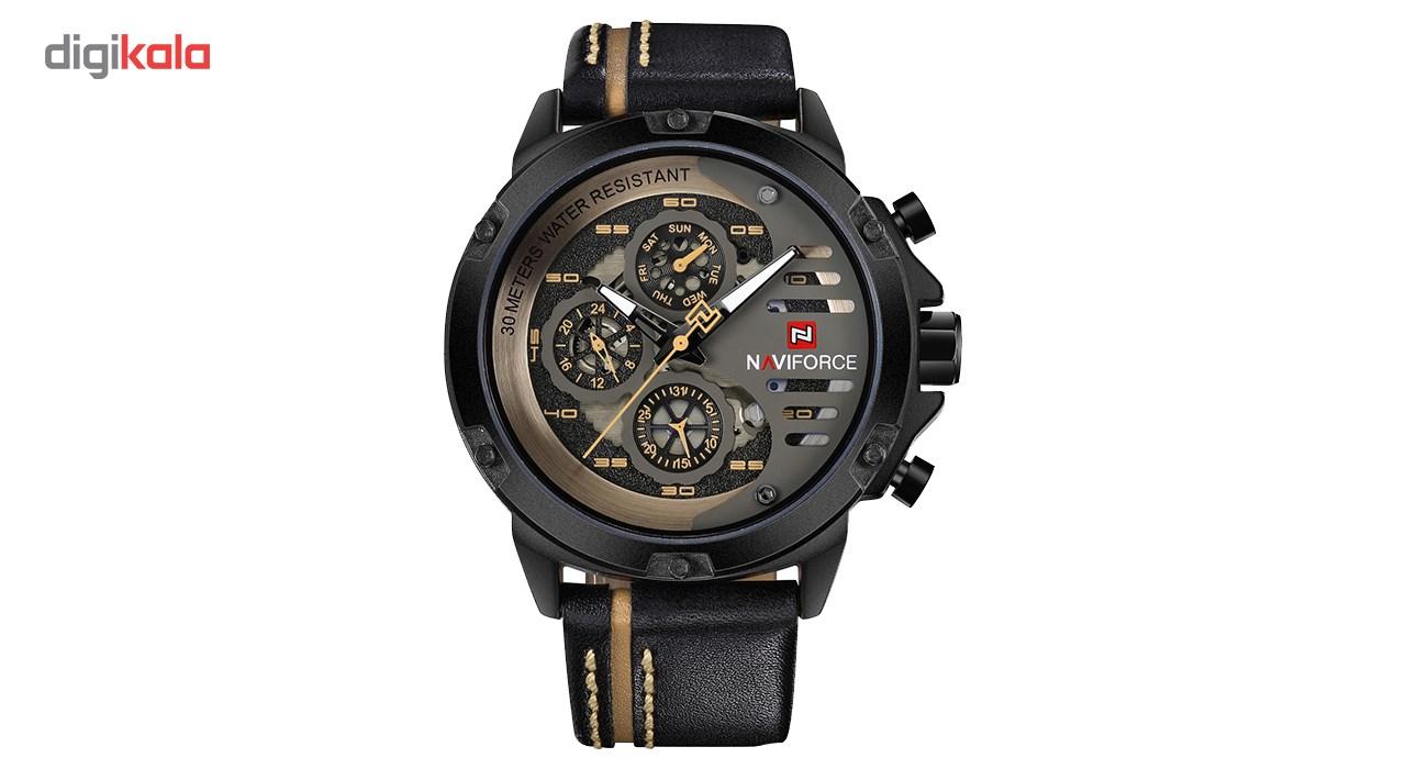 خرید ساعت مچی عقربه ای مردانه نیوی فورس مدل NF9110M/BYBN