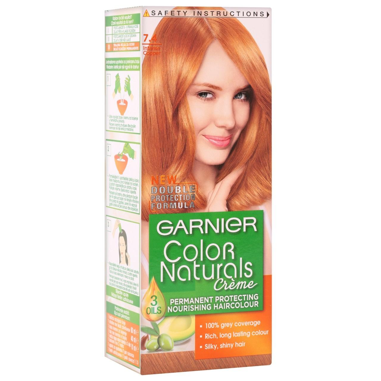 کیت رنگ مو گارنیه شماره Color Naturals Adria Shade 7.4