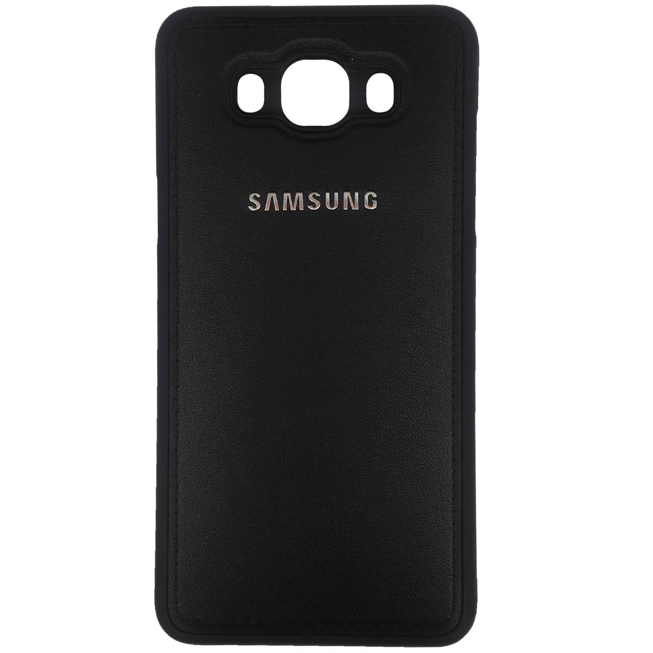 کاور ژله ای طرح چرم مدل مناسب برای گوشی موبایل سامسونگ Galaxy J7 2016/J710