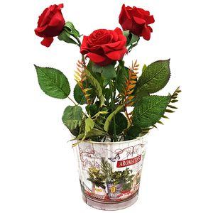 گلدان گل برتاریو مدل Red Rose Metal