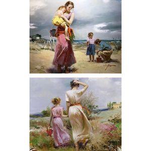 تابلو شاسی گالری هنری پیکاسو طرح آثار پینو دانی مجموعه 2 عددی