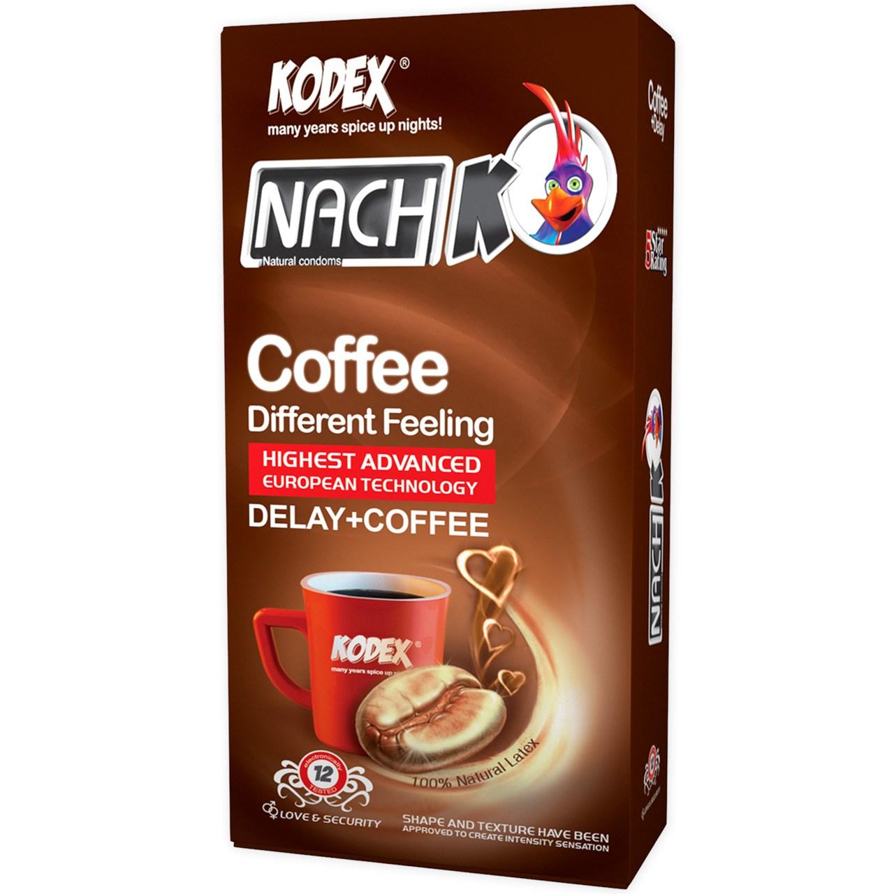 عکس کاندوم کدکس مدل Coffee بسته 12 عددی