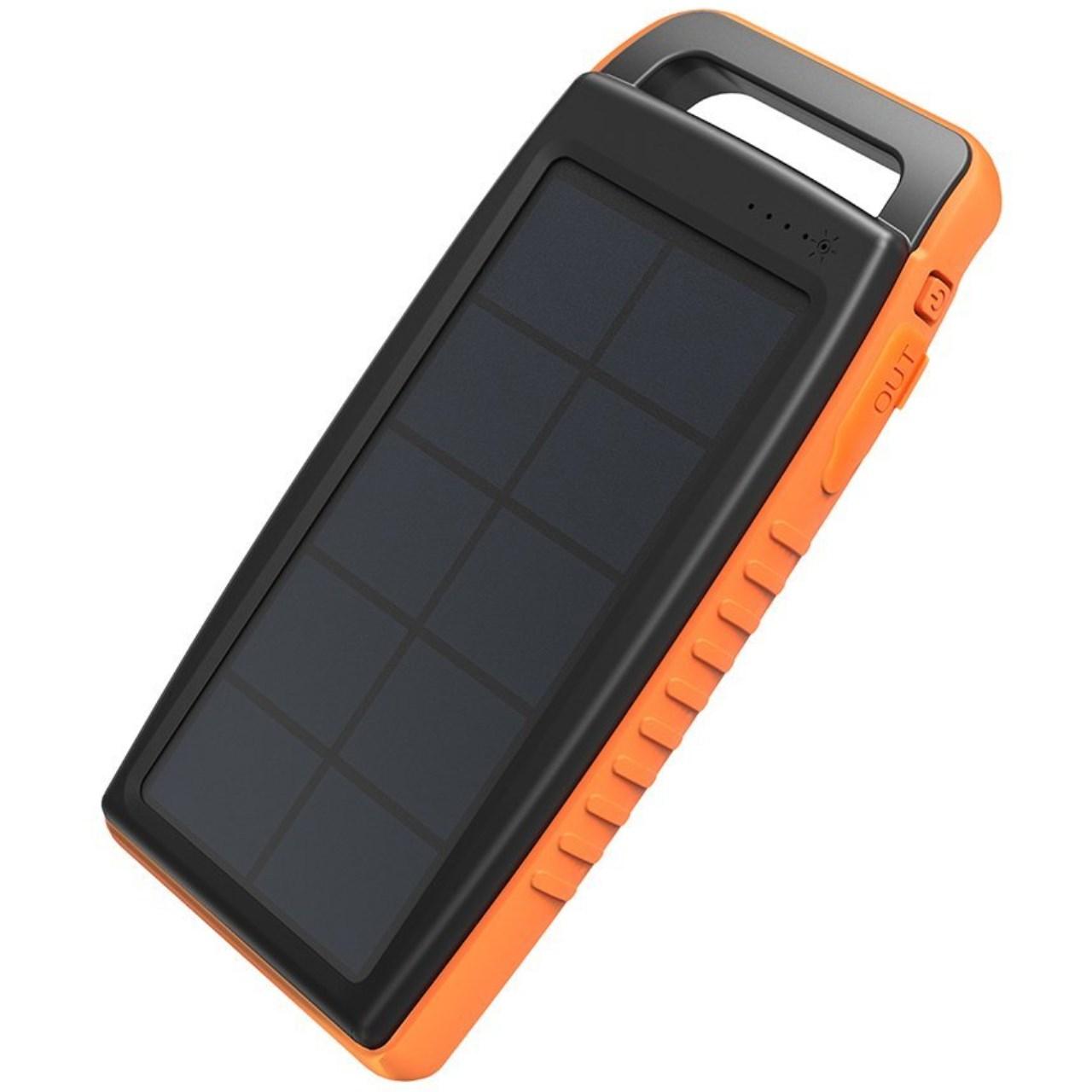 شارژر همراه خورشیدی راو پاور مدل RP-PB003 ظرفیت 15000 میلی آمپر ساعت