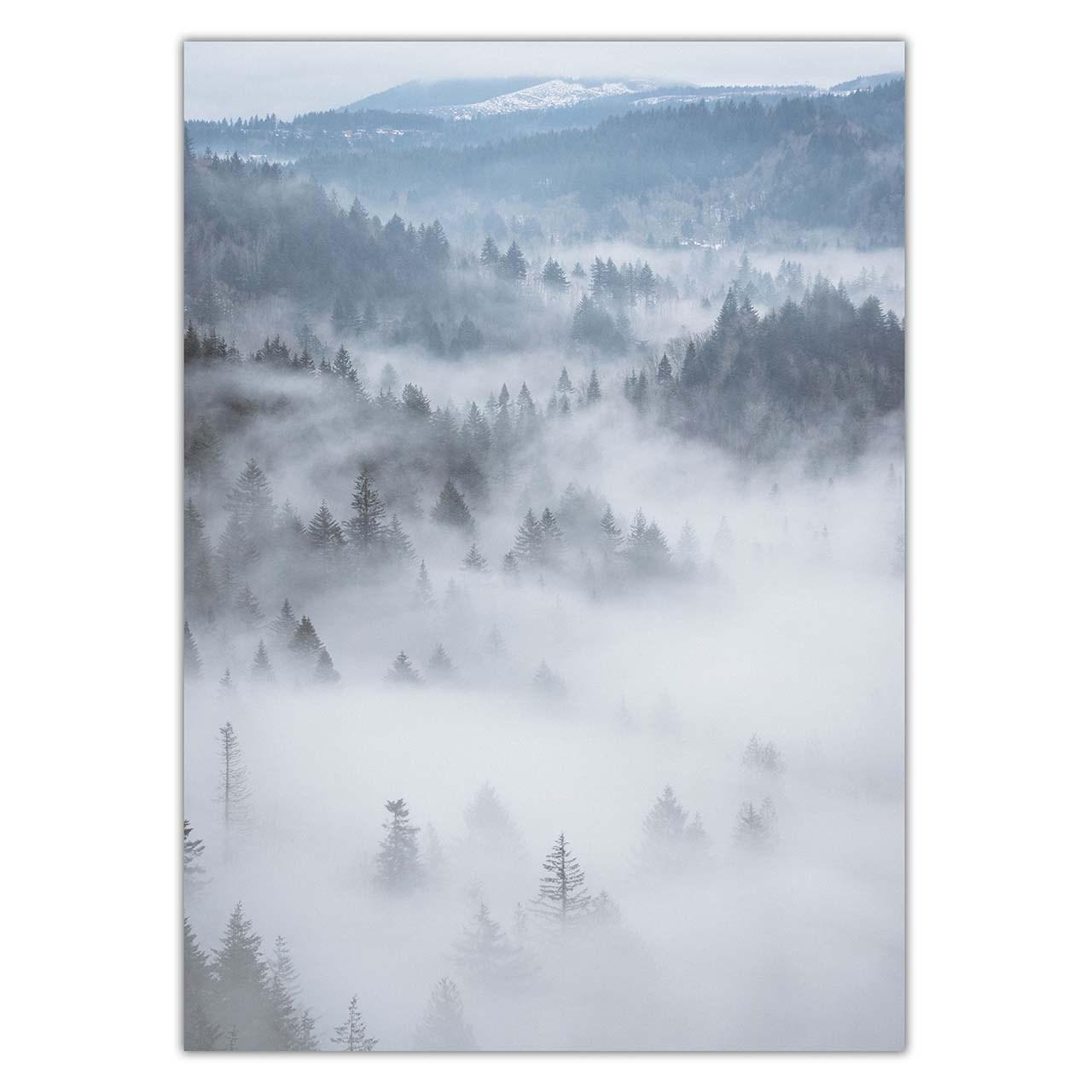 تابلو شاسی ونسونی طرح Heavy Clouds on Mountain سایز 50x70 سانتی متر