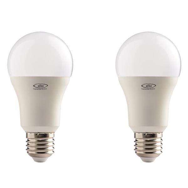 لامپ ال ای دی 12 وات البو مدل حبابی پایه E27 بسته 2 عددی