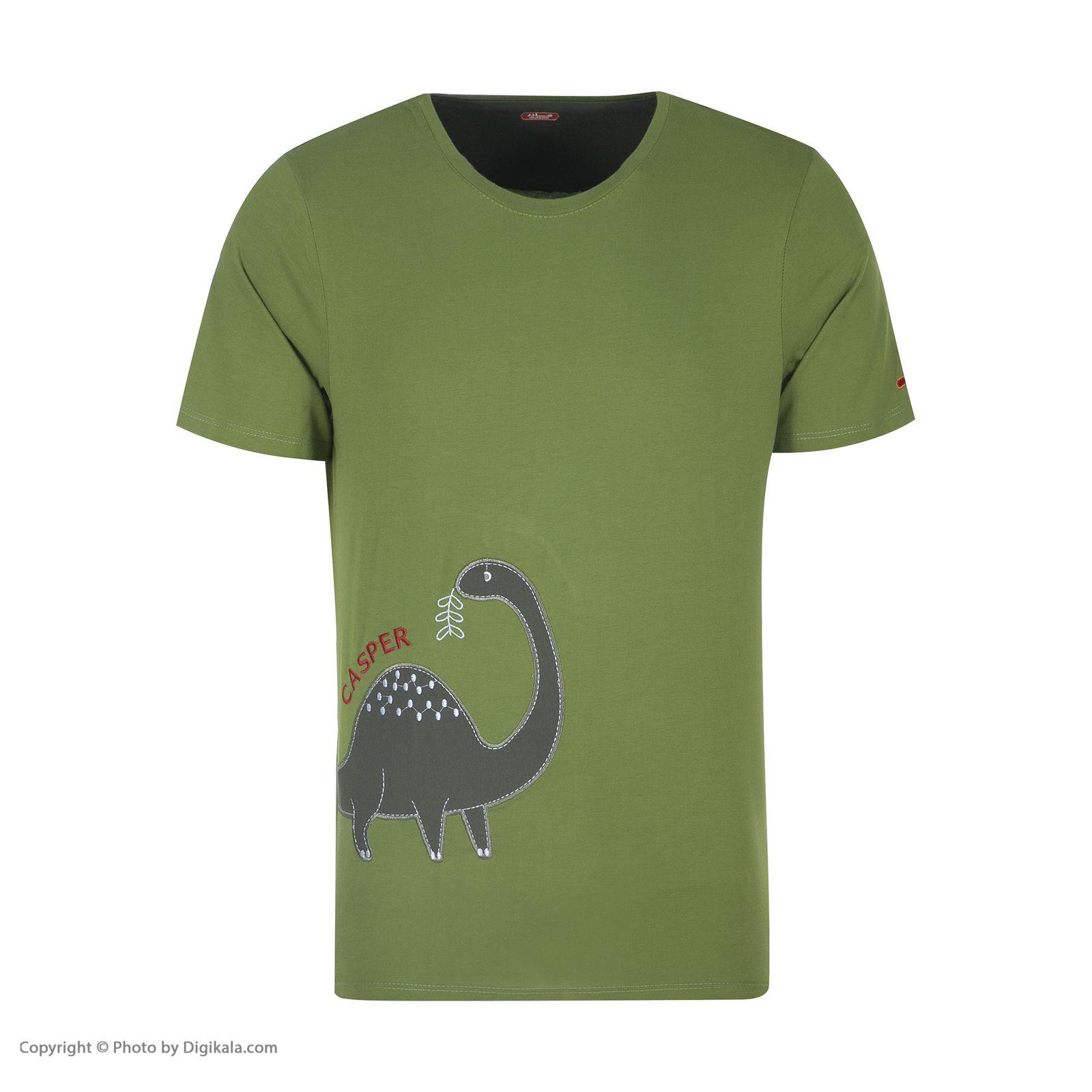 ست تی شرت و شلوارک راحتی مردانه مادر مدل 2041106-42 -  - 4