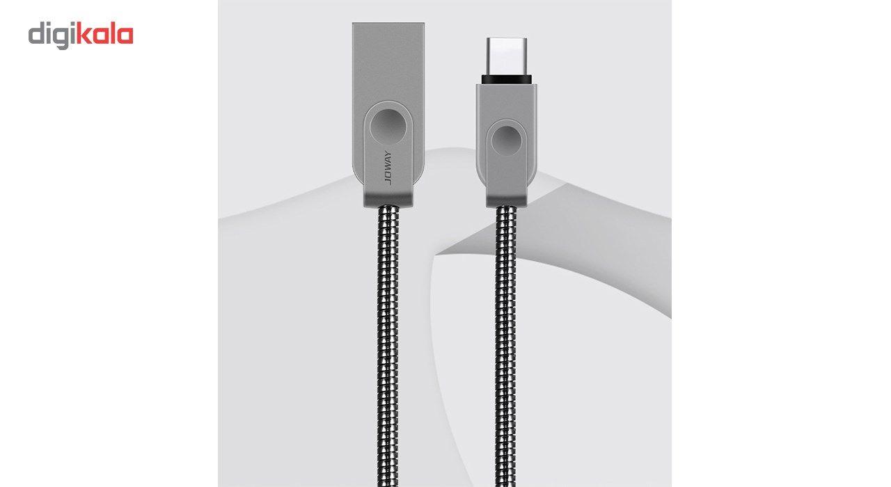 کابل شارژ  فلزی تایپ C به usb  جووی مدل  TC07 شارژ سریع به طول 120 سانتی متر main 1 7