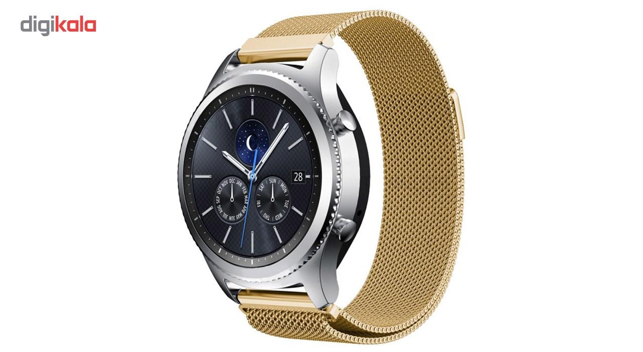 بند فلزی ساعت هوشمند مدل Magnetic-S10 مناسب برای سامسونگ Gear S3