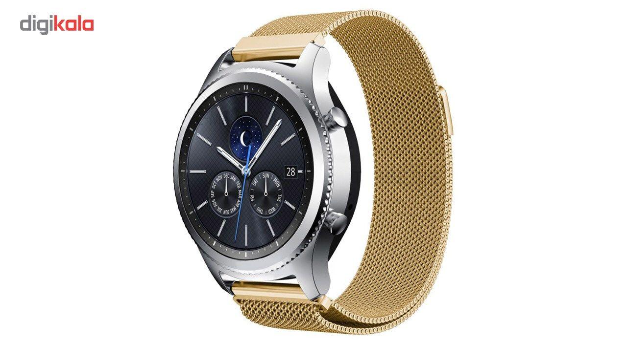بند فلزی ساعت هوشمند مدل Magnetic-S10 مناسب برای سامسونگ Gear S3 main 1 2