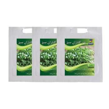 مجموعه بذر شاهی گلباران سبز بسته 3 عددی
