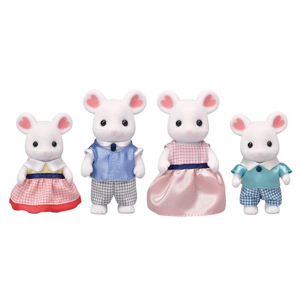 عروسک سیلوانیان فامیلیز مدل موش مارشملو کد 5308مجموعه 4 عددی