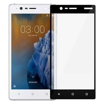 محافظ صفحه نمایش شیشه ای تمپرد مدل Full Cover مناسب برای گوشی نوکیا 3