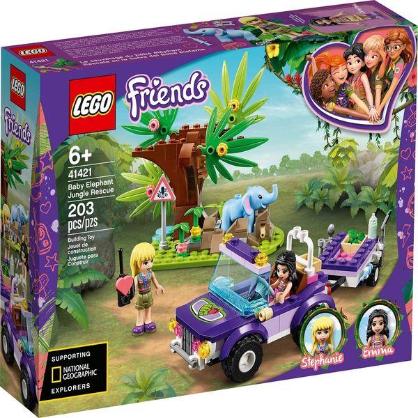لگو سری Friends مدل Baby Elephant Jungle Rescue 41421
