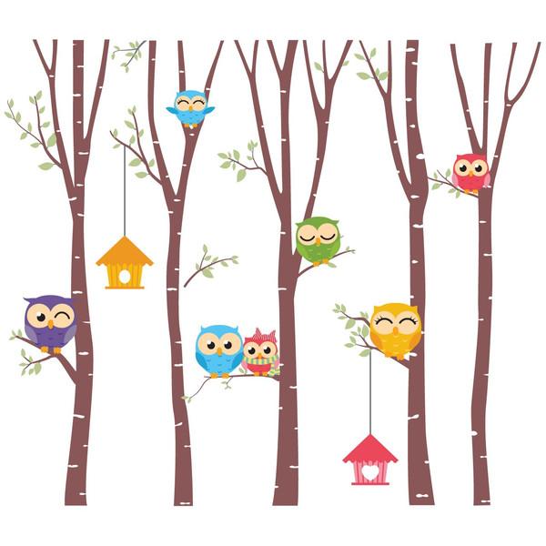 استیکر سالسو طرح Spring Owl