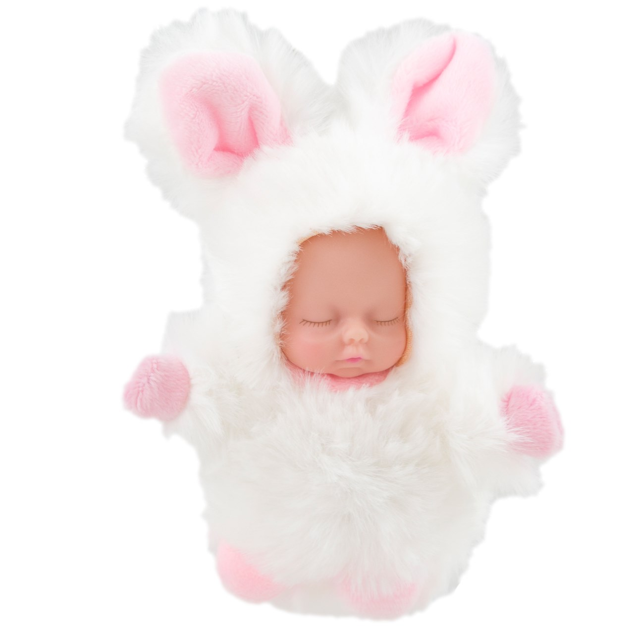 عکس آویز و جاسوئیچی نوزاد لاکچری مدل White Rabbit Dress