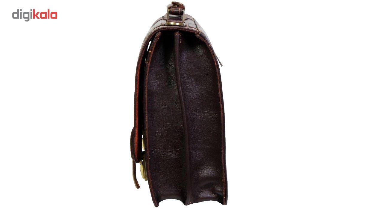 کیف اداری چرم طبیعی چرم ناب مدل قفل مخفی کد 102 main 1 4