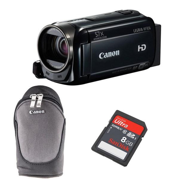 دوربین فیلم برداری کانن Legria HF R56 به همراه کیف و کارت حافظه 8 گیگابایتی سندیسک