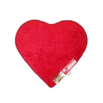 پادری رو آذین طرح قلب سایز 60x70 سانتی متر