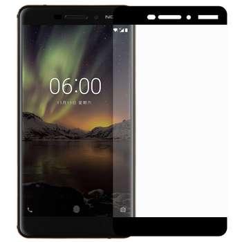 محافظ صفحه نمایش شیشه ای تمپرد مدل Full Cover مناسب برای گوشی موبایل  نوکیا 6 2018