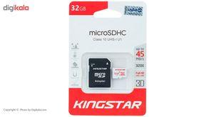 کارت حافظه microSDHC کینگ استار کلاس 10 استاندارد UHS-I U1 سرعت 45MBps همراه با آداپتور SD ظرفیت 3