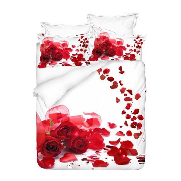 سرویس خواب کالرز آو فشن مدل گل سرخ دو نفره 7 تکه