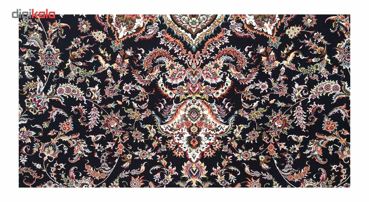 فرش زمرد مشهد کد 36000 رنگ سورمه ای