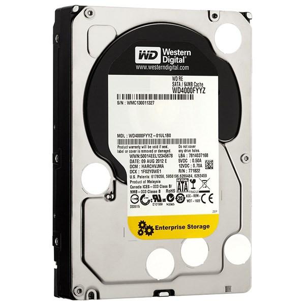 هارد دیسک اینترنال وسترن دیجیتال سری RE ظرفیت 4 ترابایت 64 مگابایت کش