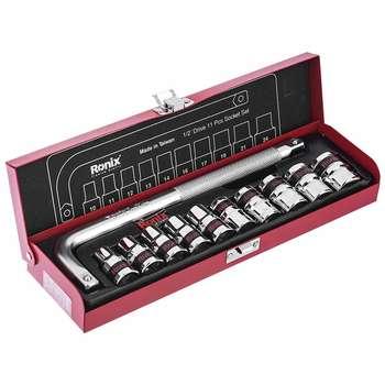 مجموعه 11 عددی آچار بکس و سری بکس رونیکس مدل RH-2610