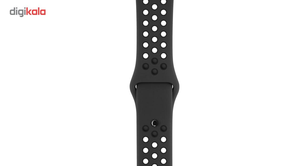 ساعت هوشمند اپل واچ سری 3 مدل Nike Plus 38mm Space Gray Aluminum Case with Anthracite/Black Nike Sport Band
