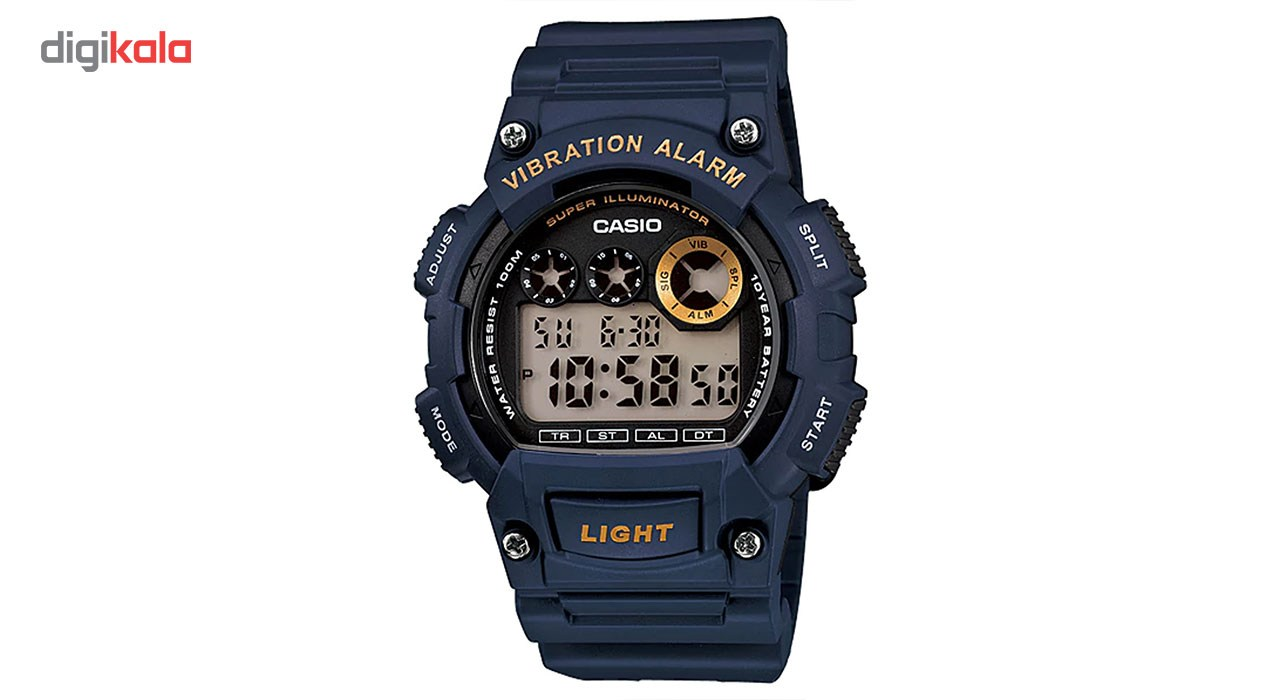 خرید ساعت مچی دیجیتالی مردانه کاسیو مدل  W-735H-2AVDF | ساعت مچی