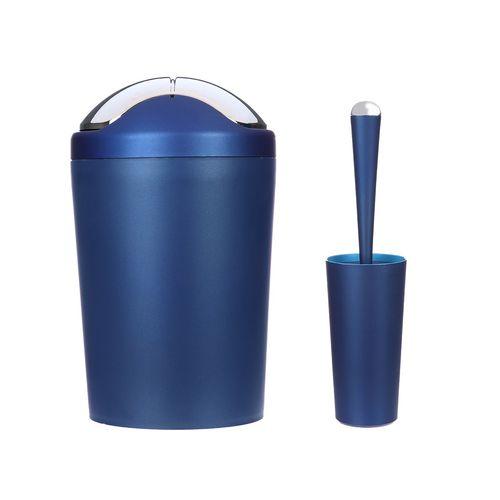 ست سطل زباله و فرچه سنی پلاستیک مدل Solan