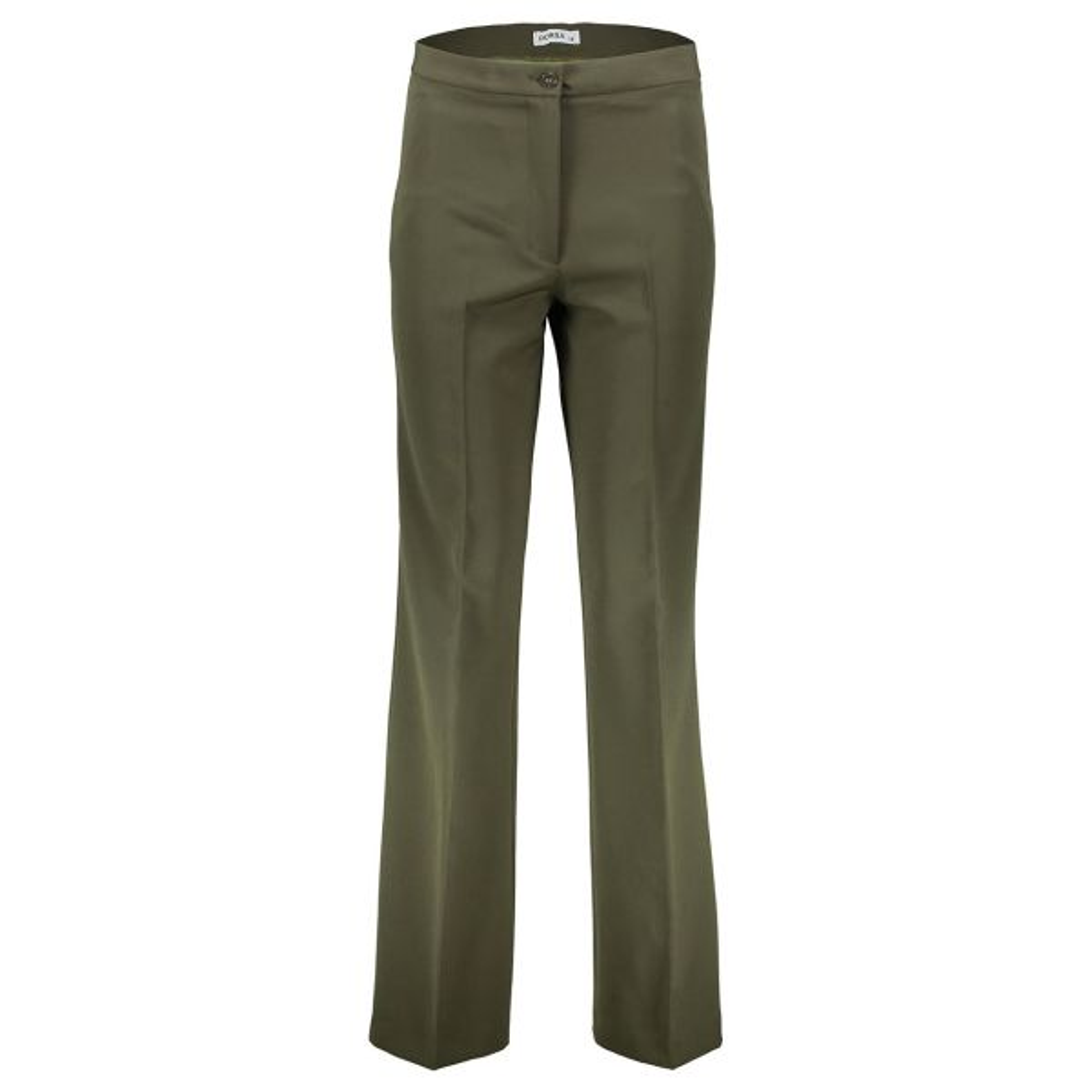 شلوار زنانه دمپا گشاد پارچه ای سبز مدل 198