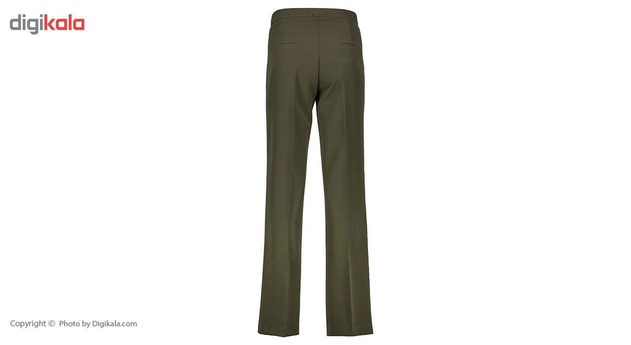 شلوار زنانه دمپا گشاد پارچه ای سبز مدل 198 -  - 1
