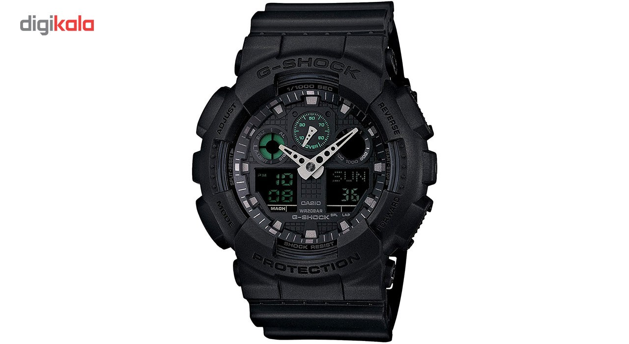 خرید ساعت مچی عقربه ای مردانه کاسیو جی شاک مدل GA-100MB-1ADR | ساعت مچی