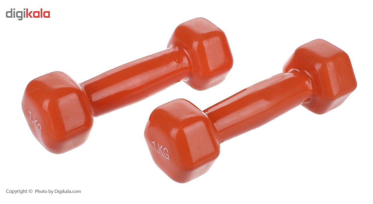 دمبل ایروبیک روکش دار 1 کیلوگرمی بسته دو عددی main 1 1