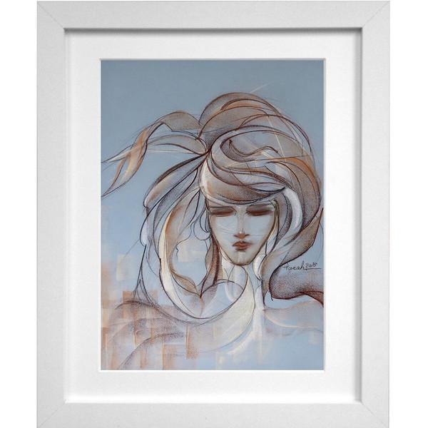 تابلو نقاشی اثر استاد خانم پناه مدل F01 طرح پریشان