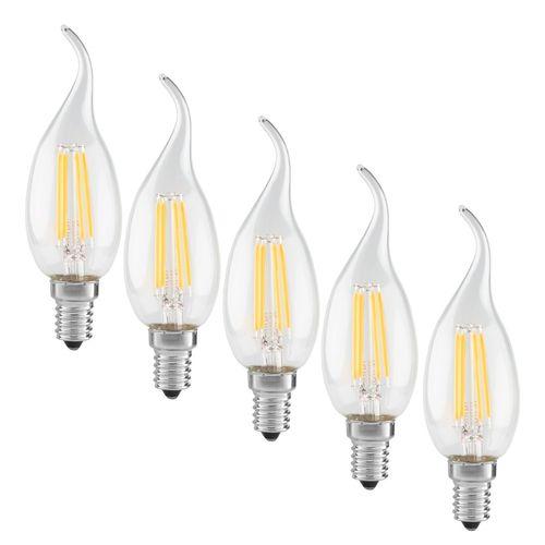 لامپ ال ای دی فیلامنت 4 وات دلتا مدل اشکی پایه E14  بسته 5 عددی